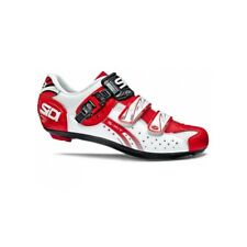 SIDI Genius 5 Fit Road Cycling Shoes Bike Shoes White/Red Size 36-46 EUR