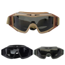 Tactical Goggle Wind Dust Proof Glasses Airsoft CS Paintball Protect +3 Lens FS