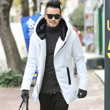 Men's Winter Jacket Thickening New Coat Warm Parka Leather Down Hooded Overcoat