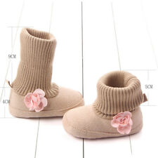 Boy Girl Toddler Kid Infant Baby Soft Shoes Booties Snow Boots 0-12M