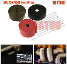 5/10/15M BASALT TITANIUM HEAT WRAP EXHAUST MANIFOLD+30cm 10 STAINLESS CABLE TIES