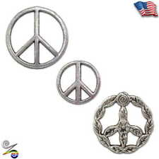 Peace Love Symbol Sign Hippie Bohemian Anti War Rainbow Pewter Coat Hat Tie Pin