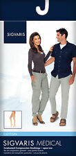 SIGVARIS COTTON COMPRESSION THIGH HIGH STOCKINGS for Men Women, 20-30mmHg ANY SZ