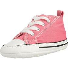 Converse Chuck Taylor First Star Pink Textile Baby Soft Soles Shoes