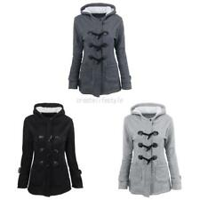 Trendy Women Quality Wool Blend Thick Hooded Coat Hoodie Warm Jacket Overcoat