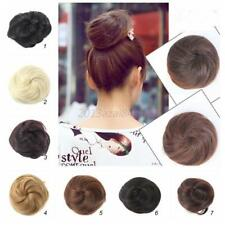 Party Ponytail Women Clip in/on Hair Bun Hairpiece Hair Extension Scrunchie US