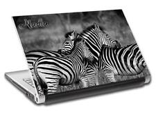 Zebras Personalized LAPTOP Skin Decal Vinyl Sticker ANY NAME Animals L667
