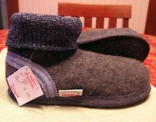 WESENJAK Boiled Wool Slippers ~ AUSTRIA Womens GREY/BLUE Choose Your Size!