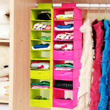 9-Case Hanging Shelves Wardrobe Storage Closet Organizer for Clothes Shoes Towel