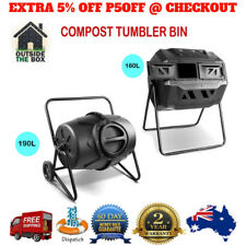 Compost Tumbler Bin Garden Recycling Food Waste Composter Aerated Container New