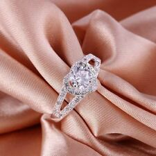 Korean Style Crystal Ring New Silver Ring jewelry exquisite wedding party CZ Sto
