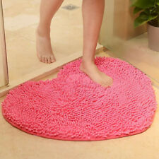 Heart Shape Super Soft Microfiber Shag Floor Rug Mat Carpet Machine Washable