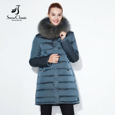 Women Long Coat Thick Jacket Winter Parka Outwear Warm Overcoat Fur Faux Slim