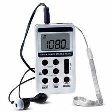 Portable Pocket FM / AM 2 Band Stereo Radio Receiver LCD Display + Earphone