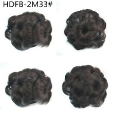Big Womens Clip In Comb Flowers Design Hair Dish Buns Cover Hairpiece