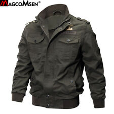 Jacket For Men Bomber Flight Military Reversible Coat Winter Embroidery Military