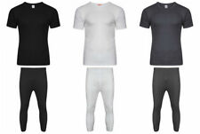 Mens Boys Thermal Underwear Long Johns Thermal T Shirt Top Bottom Trousers S-2XL