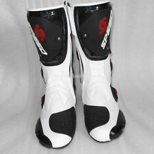 Mens Motorcycle Racing boots Waterproof Motocross Boots Motorbike Shoes White FS