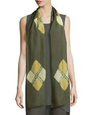 NWT Eileen Fisher Oregano Silk Shibori Emblems Scarf Fall 17