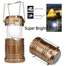 Solar USB Charging Rechargeable Outdoor Camping Tent Lantern Light 6 LED Lamp DG
