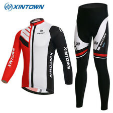 Fleece Jacket Cycling Jersey Winter Thermal Long Coat Black Red Warm Bike Outfit