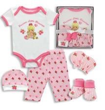 5-Piece Precious Moments Baby Girl/Boy Box outfit Set - Precious Little Blessing