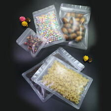 New Frosted Clear Plastic Zip Lock Storage Bags in Different Quantity and Sizes