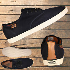 """VANS """"Off The Wall"""" Navy Canvas Black Laces Mens Womens Casulal Shoes Sneakers"""