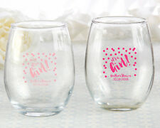 50 Personalized Stemless Wine Glasses It's a Girl Baby Shower Party Favors
