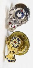 RARE ANTIQUE BPOE ELKS CLUB LAPEL PINS - 2 DIFFERENT VARIATIONS & 1 HAS JEWELS