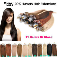 50g/100s 100% Remy Human Pre-Bonded Micro Ring Loop Hair Extensions 18-22inch