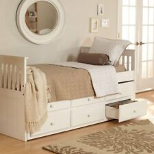 Woodcrest Pine Ridge Ethan Mission Trundle Bed - White
