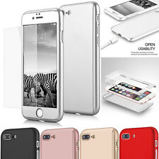 Case Cover For iPhone 7 Protective Hard Original PC Built in Screen Protector