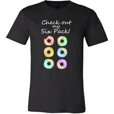 Check Out My Six Pack Donut Lover Funny T-shirt Canvas Men's Tee Shirt cotton