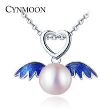 Pearl Pendant Necklace Silver Jewelry Freshwater Cultured Natural CYNMOON