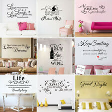Removable Quote Art Decor Vinyl Wall Sticker Mural DIY Home Room Decal Decor