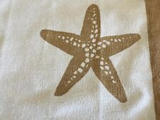 NEW Set of 4 Placemats Cotton Canvas Beach House Ocean Sea Shore Starfish Shells