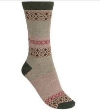 WOOLRICH Heritage Wool Blend Socks Womens AZTEC Patterned BROWN~KHAKI~OLIVE ~MED