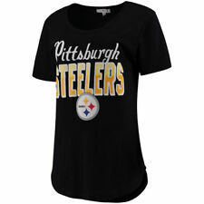 Junk Food Pittsburgh Steelers Women's Black Game Time T-Shirt - NFL