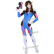 Overwatch D.Va Hana Song Cosplay Costume Women Female Suit Jumpsuit Bodysuit