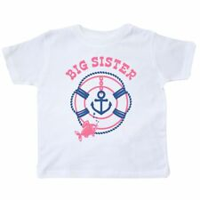 Inktastic Nautical Big Sister Toddler T-Shirt Life Preserver Anchor Fish Future