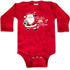 Inktastic Santas Little Helper Long Sleeve Creeper Christmas General Santa Claus