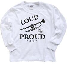 Inktastic Loud And Proud Trumpet Youth Long Sleeve T-Shirt Music Brass Horn Band