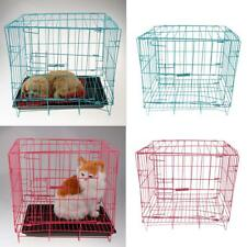 Portable Foldable Folding Dog Cage Metal Pet Cage Puppy Cat Crate Puppy Kennel