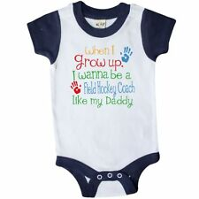 Inktastic Field Hockey Coach Like Daddy Infant Creeper Childs Kids Baby Gift Son