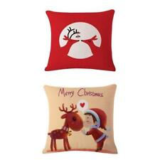 """2pcs 17"""" Square Christmas Series Decorative Throw Cushion Cover Pillow Cases"""