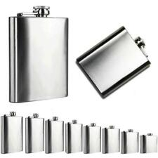 Mans Stainless Steel Outdoor Pocket Hip Flask Alcohol Whiskey Liquor Screw Cap