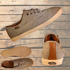 """VANS """"Off The Wall"""" Grey Canvas Grey Laces Mens Womens Shoes Casual Sneakers"""