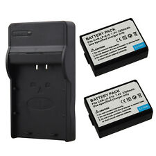 2x 2200mAh LPE10 Batteries + Charger For Canon 1100D 1300D Rebel T3 T5 KISS X50