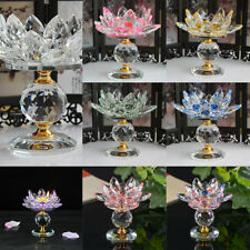 Crystal Lotus Flower Big Tealight Candle Stand Holder Candlesticks Crafts